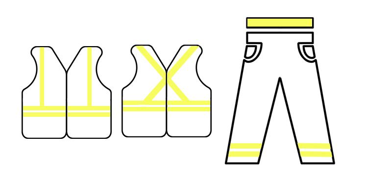 oznaczenia odzieży odblaskowej