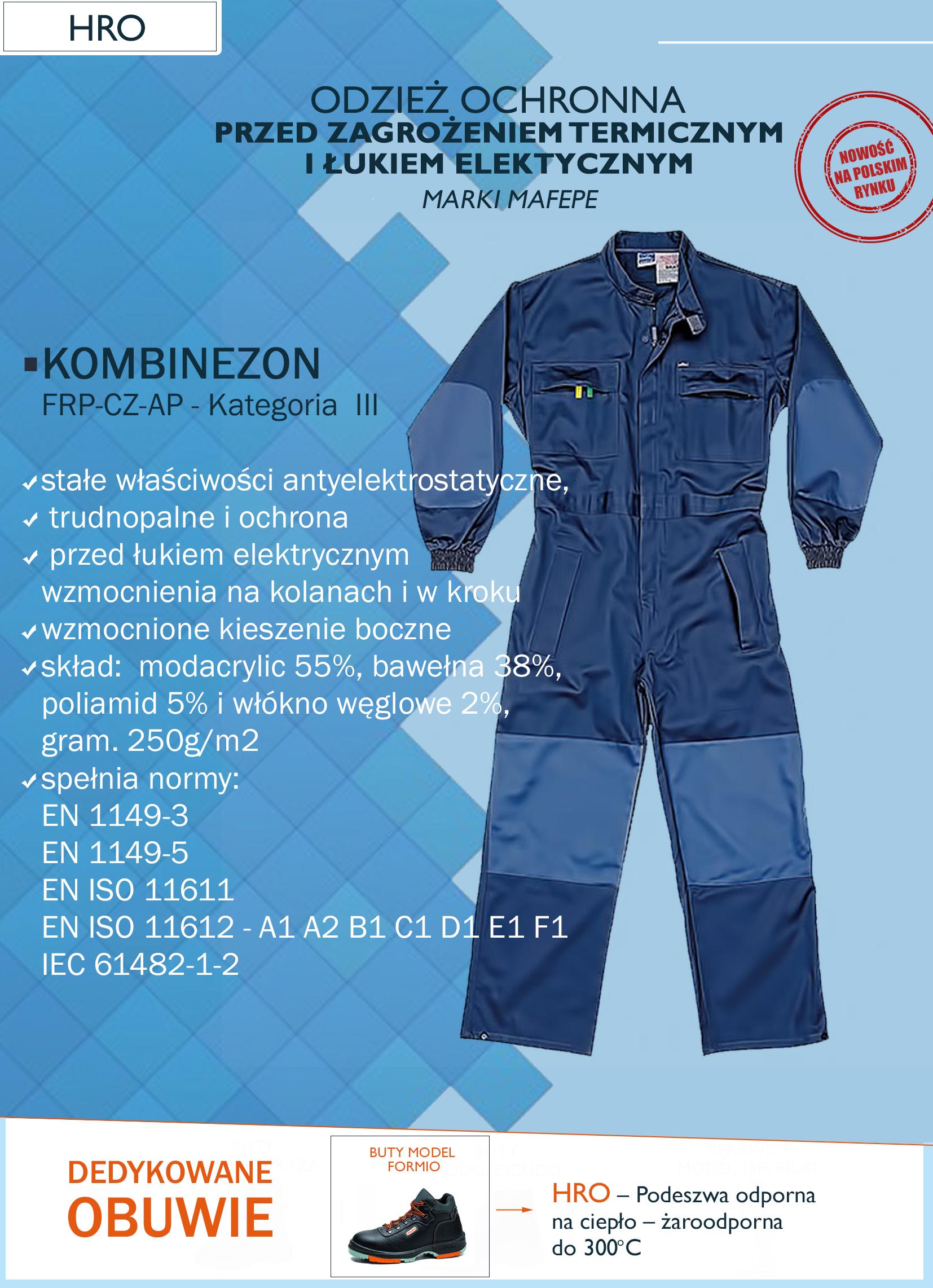 odzież ochronna przez zagrożeniem termicznym