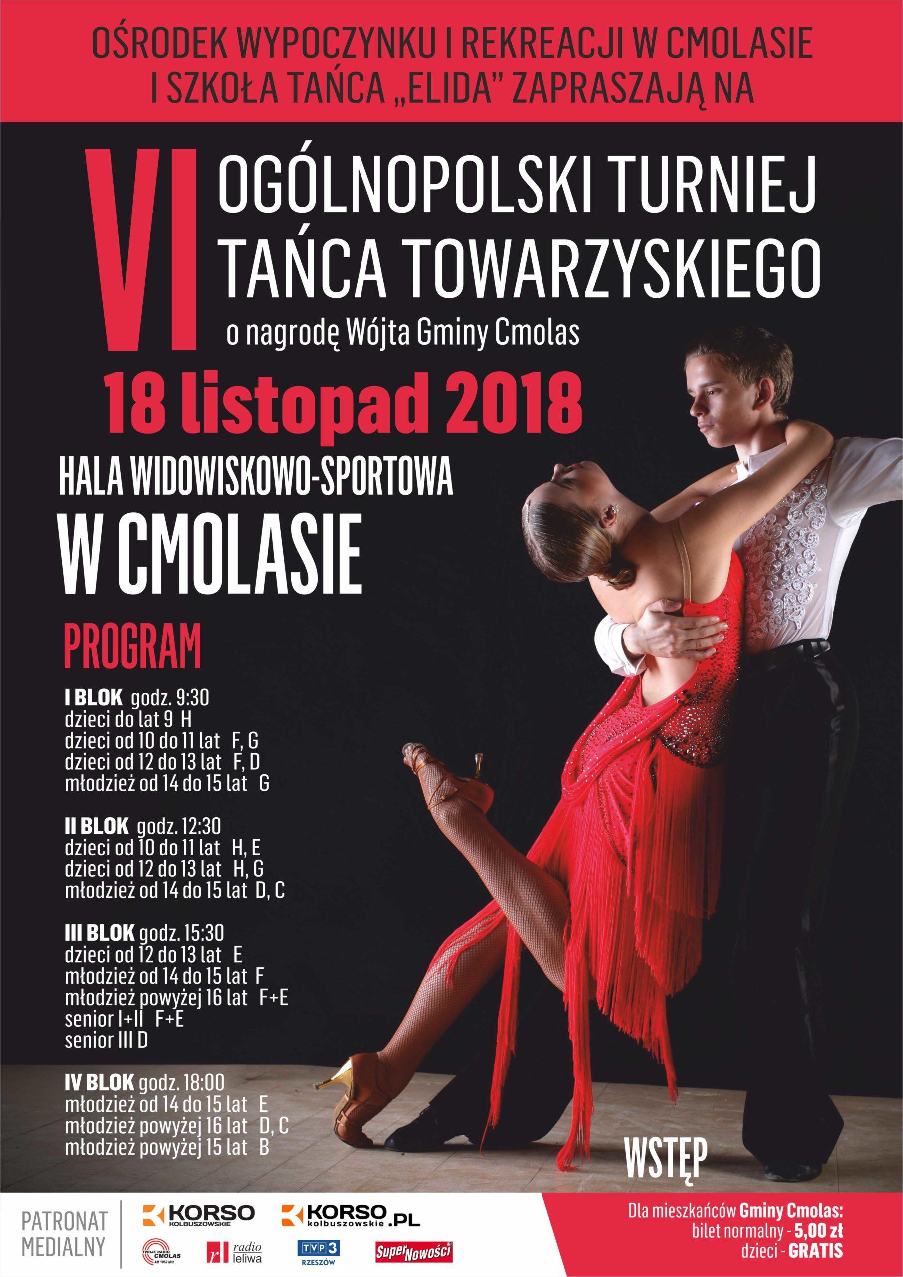 VI Ogólnopolski turniej tańca towarzyskiego w Cmolas
