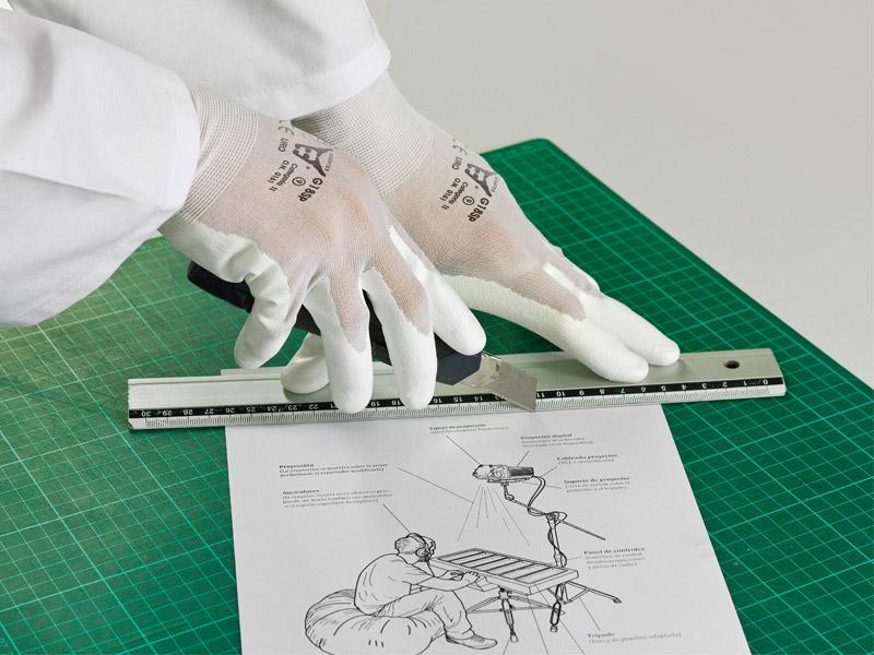 cieniutki rękawice do pracy