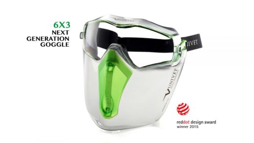 gogle univet 6x3 wraz z ochroną twarzy
